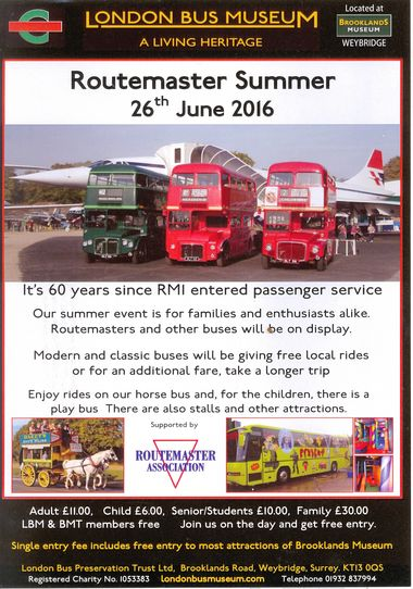 Routemaster Summer at London Bus Museum