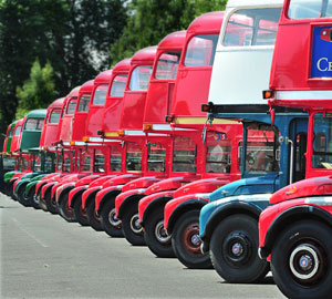 Routemaster bus line up